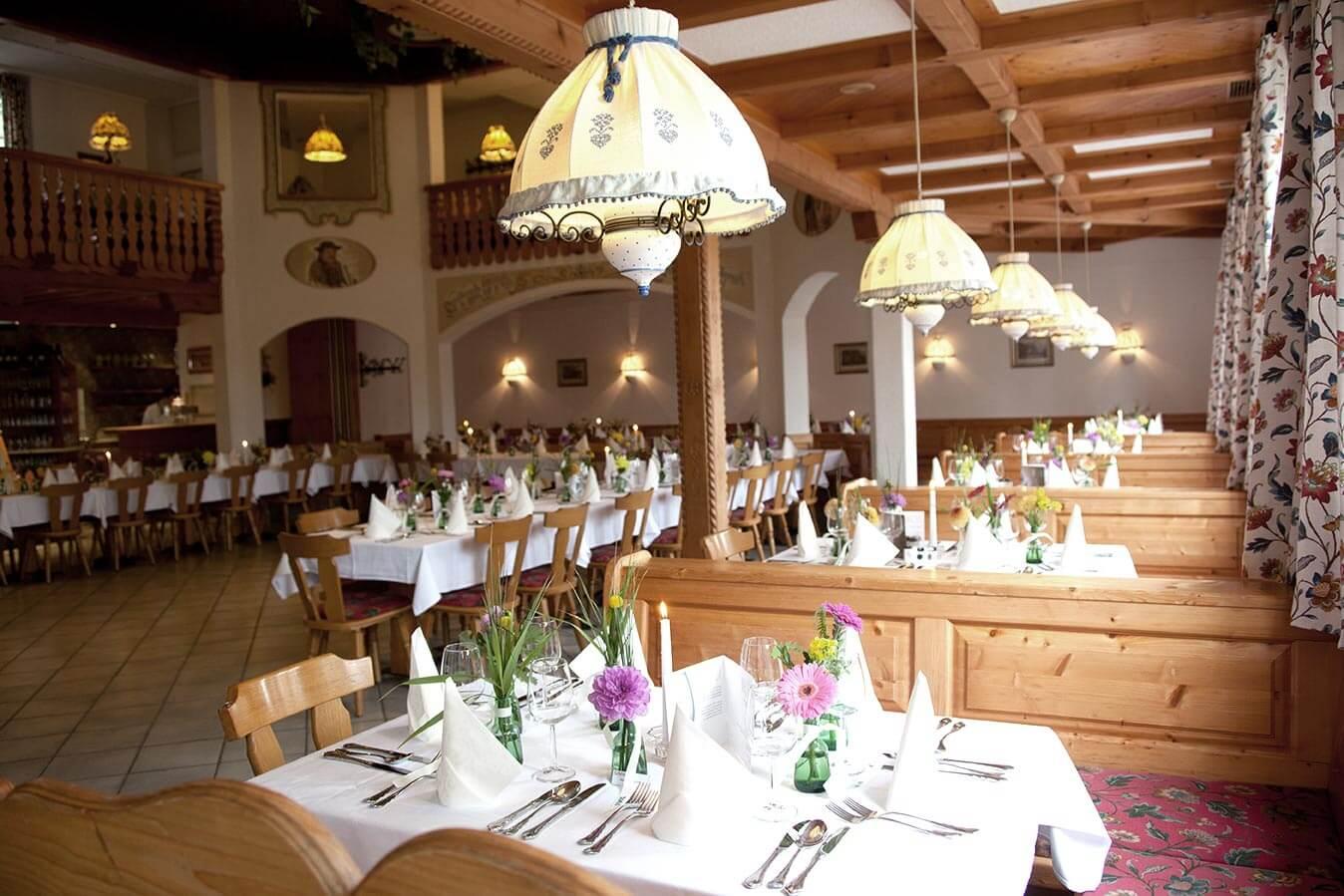 Kleiner Festsaal für die Familienfeier.