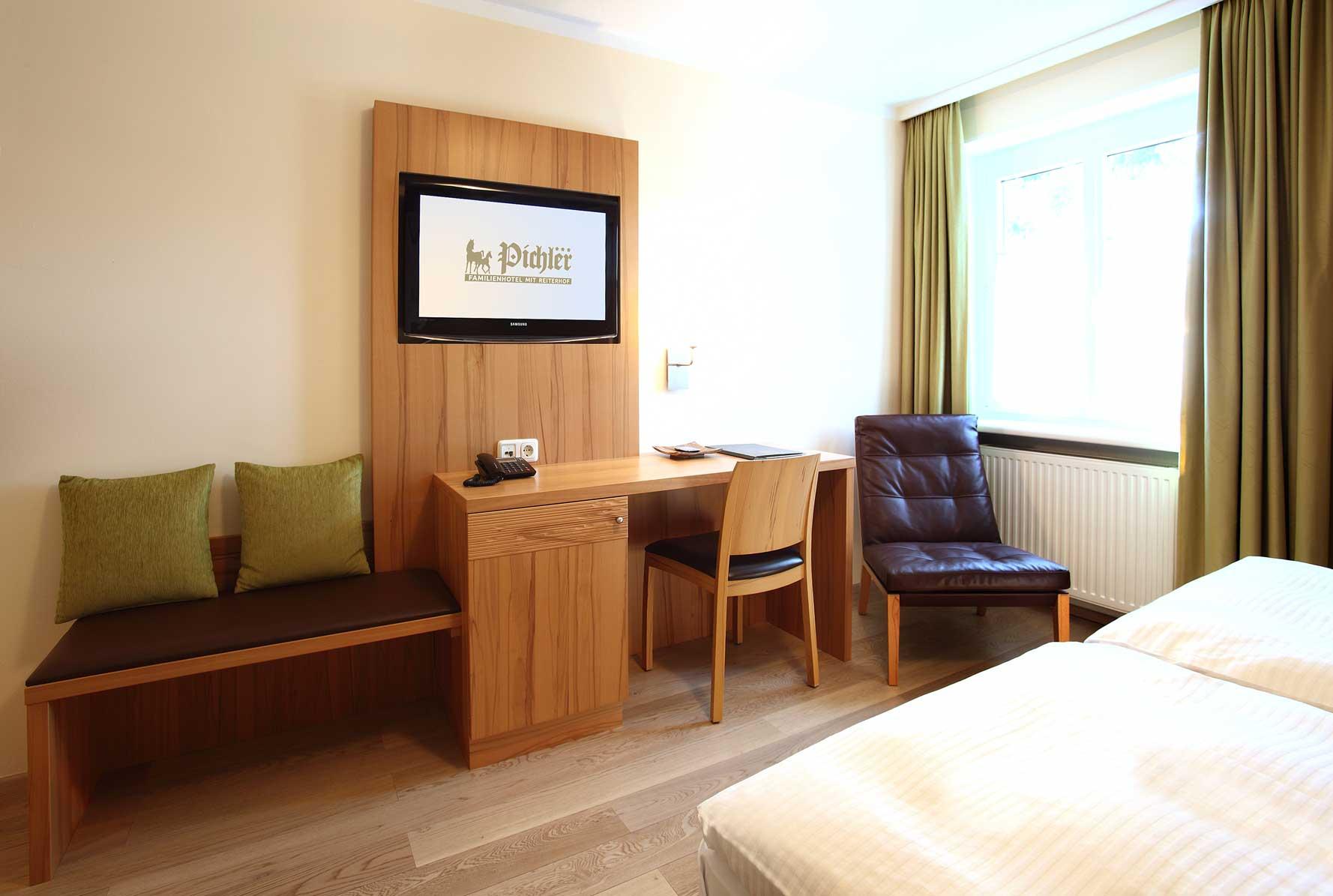 Einzelzimmer als 4-sterne-niveau komfortzimmer bad gasthof-reiterhof familienhotel pichler in Oberösterreich