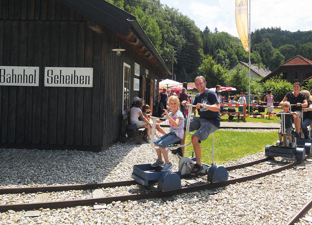 Kohlebahnhof Scheiben in geboltskirchen familienausflug familienhotel pichler