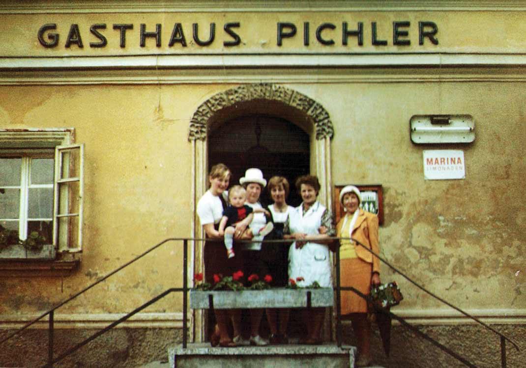 Unsere ersten Urlaubsgäste im Gasthof.